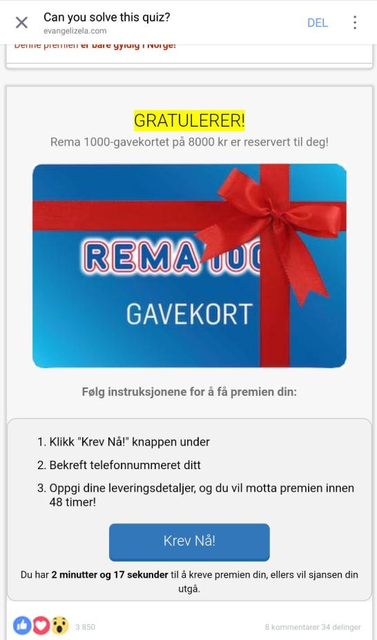 gratis gavekort rema 1000